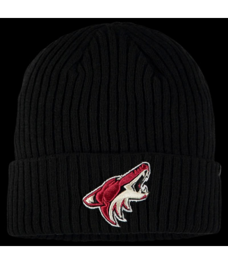 Arizona Coyotes Branded Core Cuffed Knit Hat - Black