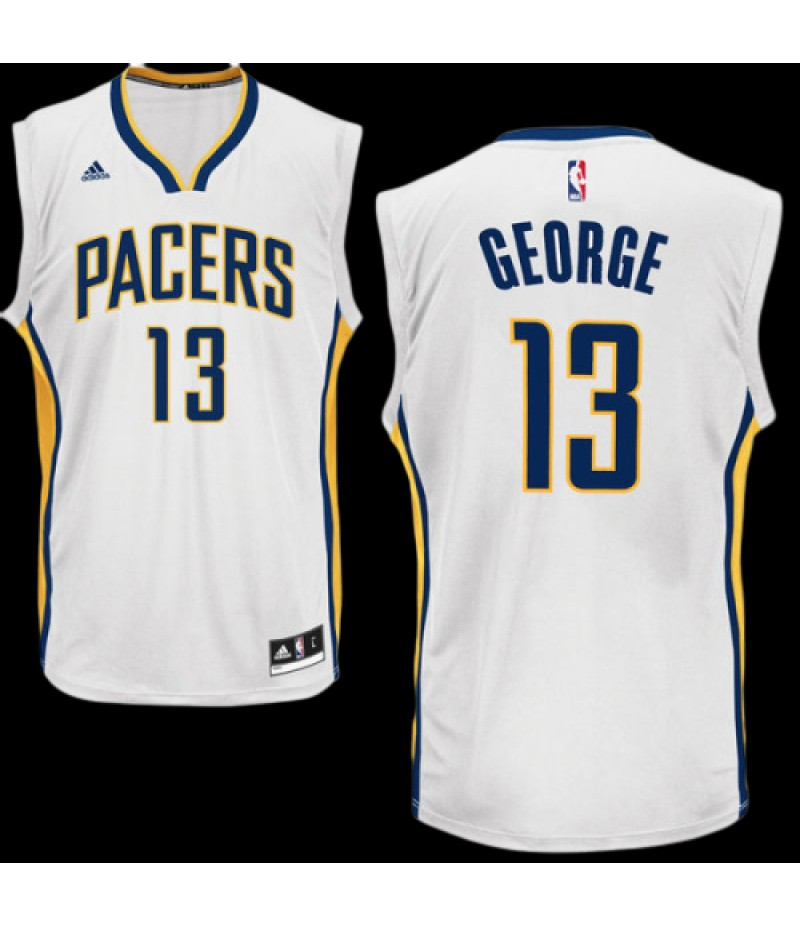 Paul George Indiana Pacers adidas Replica Jersey - White