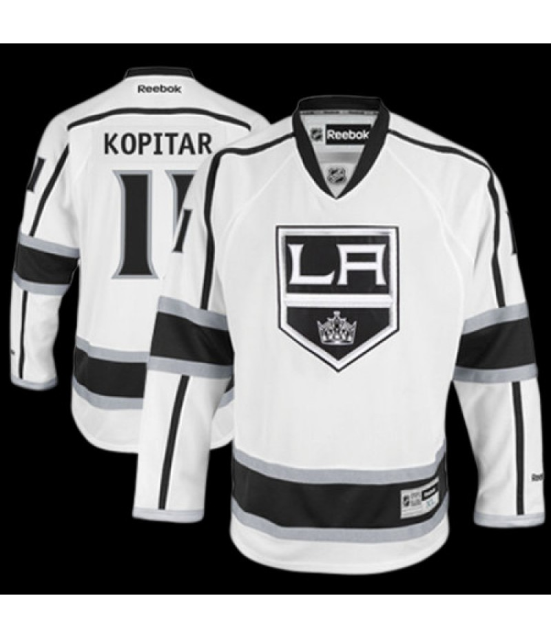 Anze Kopitar Los Angeles Kings Reebok Away Premier Jersey - White